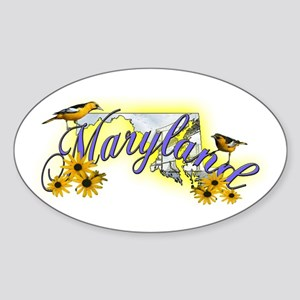 Maryland Oval Sticker