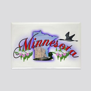 Minnesota Rectangle Magnet