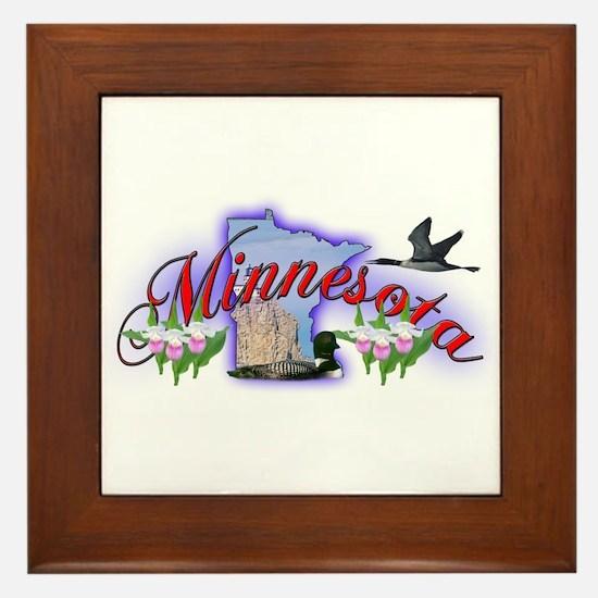Minnesota Framed Tile