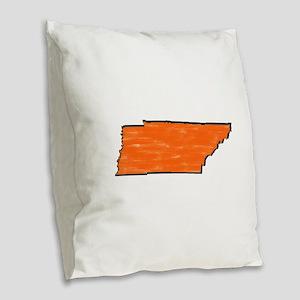 FOR TN Burlap Throw Pillow