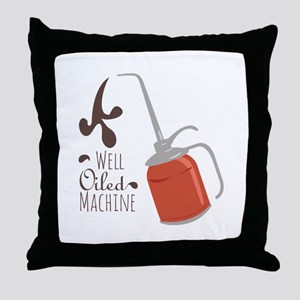 Well Oiled Machine Throw Pillow