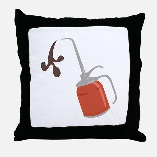 Oil Can Throw Pillow