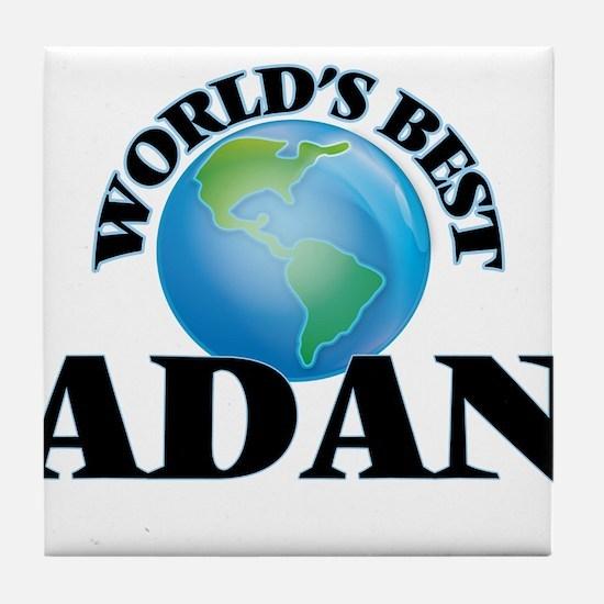 World's Best Adan Tile Coaster