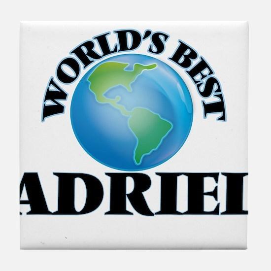 World's Best Adriel Tile Coaster