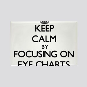 Keep Calm by focusing on EYE CHARTS Magnets