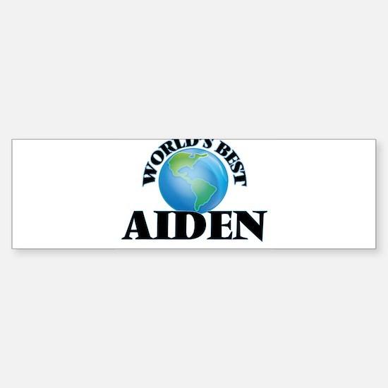 World's Best Aiden Bumper Car Car Sticker