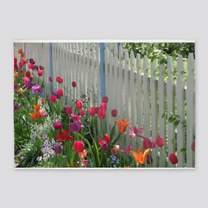 Tulips Garden along White Picket Fence 3 5'x7'Area