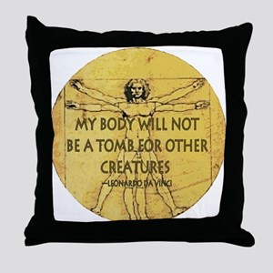 Body Tomb Throw Pillow