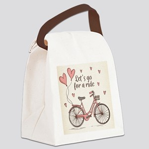 Let's go for a ride Canvas Lunch Bag