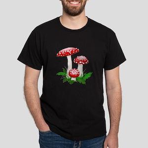 Red Mushrooms Dark T-Shirt