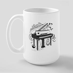 abstract piano Large Mug