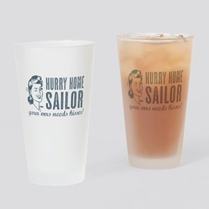 Hurry Home Sailor Drinking Glass