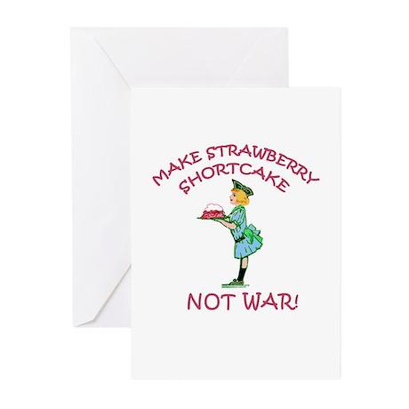 Make Shortcake Not War Greeting Cards (Package of