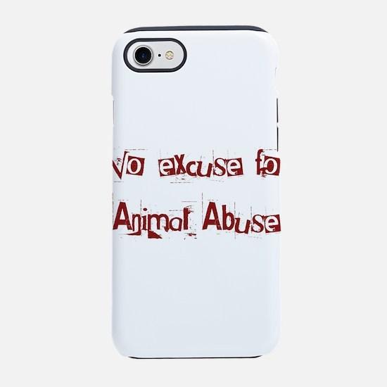 No Animal Abuse iPhone 7 Tough Case