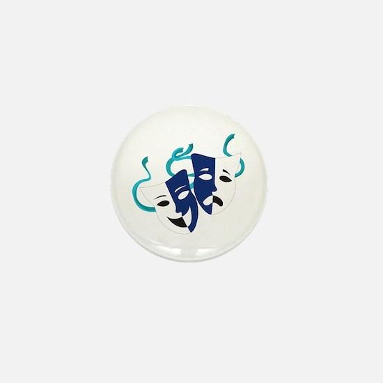 Drama Masks Mini Button