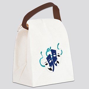 Drama Masks Canvas Lunch Bag