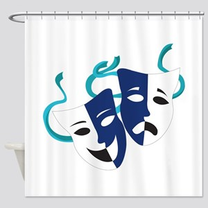 Drama Masks Shower Curtain