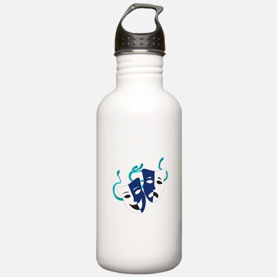 Drama Masks Water Bottle
