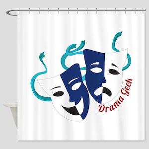 Drama Geek Shower Curtain