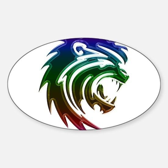 Rainbow Lion Head Decal