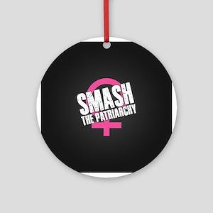 Smash the Patriarchy Round Ornament