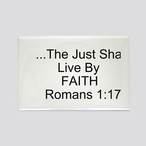 The Just Shall Live By Faith Magnets