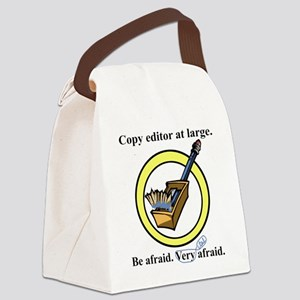 Copy editor at large Canvas Lunch Bag