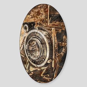 Antique Old Photo Camera Sticker