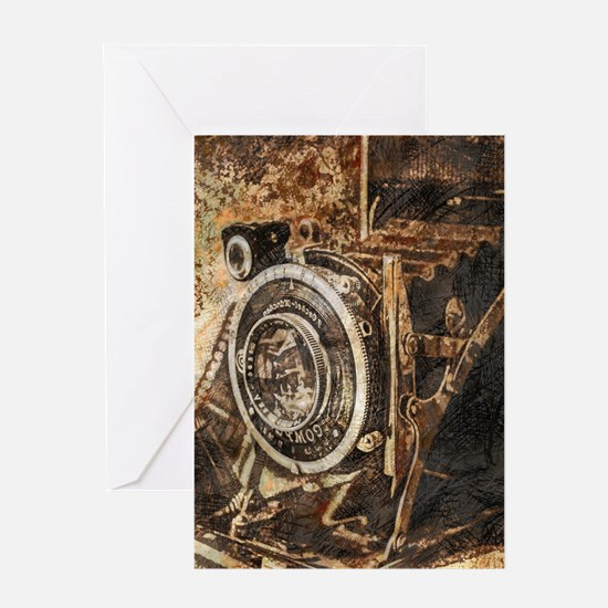 Antique Old Photo Camera Greeting Cards