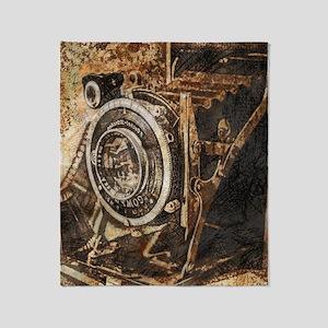 Antique Old Photo Camera Throw Blanket