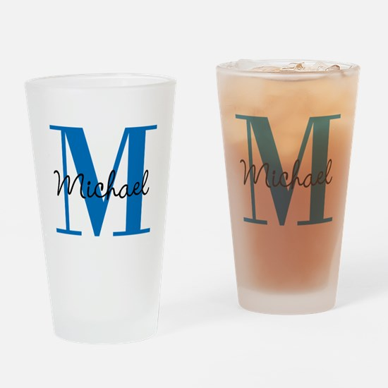 Personalize Initials and Name Drinking Glass