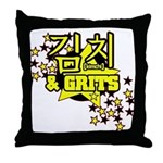 Kimchi & Grits Throw Pillow