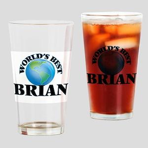 World's Best Brian Drinking Glass