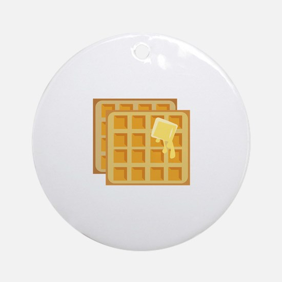 Buttered Waffles Ornament (Round)