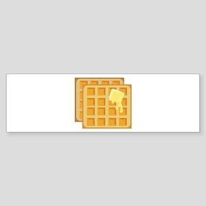 Buttered Waffles Bumper Sticker