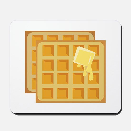 Buttered Waffles Mousepad