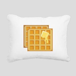 Buttered Waffles Rectangular Canvas Pillow