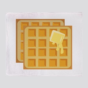 Buttered Waffles Throw Blanket