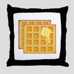 Buttered Waffles Throw Pillow