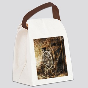 Antique Old Photo Camera Canvas Lunch Bag