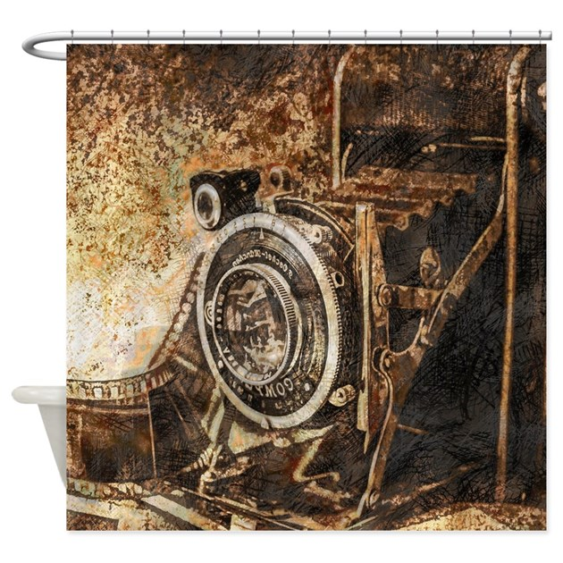 Antique Old Photo Camera Shower Curtain by DreamyPhotoEffects