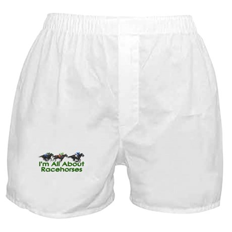 I'm All About Racehorses Boxer Shorts