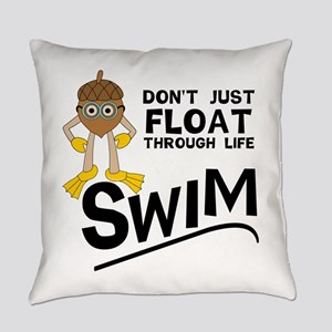 Swim Through Life Everyday Pillow