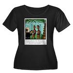 Life of Women's Plus Size Scoop Neck Dark T-Shirt
