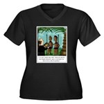 Life of Sacr Women's Plus Size V-Neck Dark T-Shirt