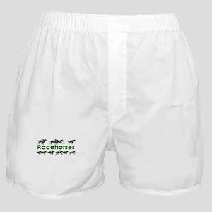 Blazing Fast Racehorses Boxer Shorts