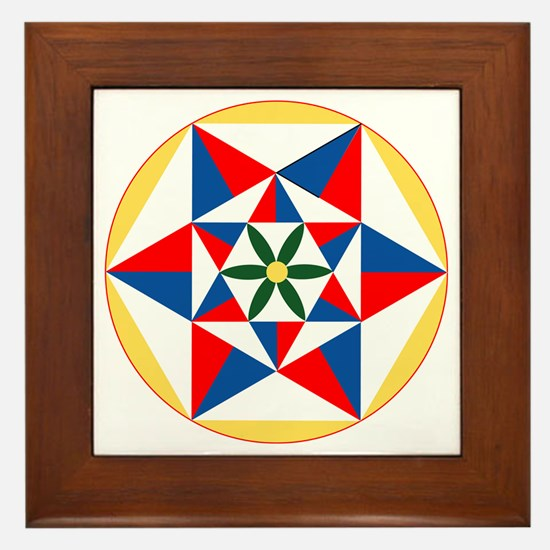 Abundance Hex Framed Tile