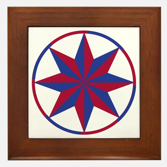 Protection Hex Sign Framed Tile