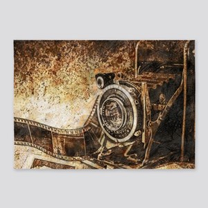 Antique Old Photo Camera 5'x7'Area Rug