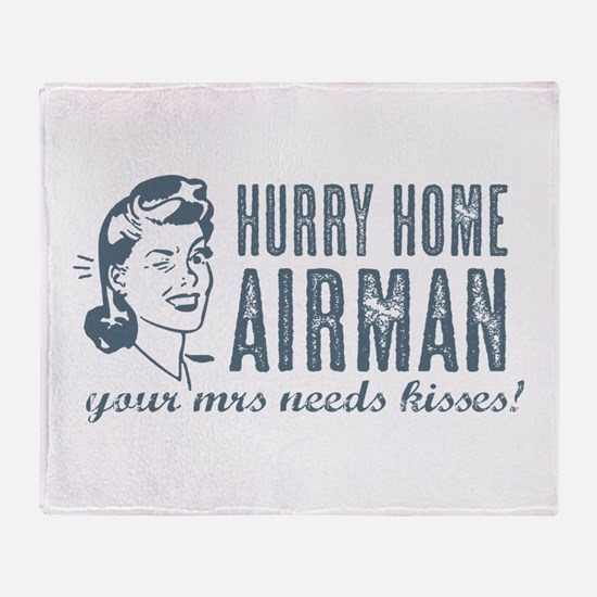 Hurry Home Airman Throw Blanket